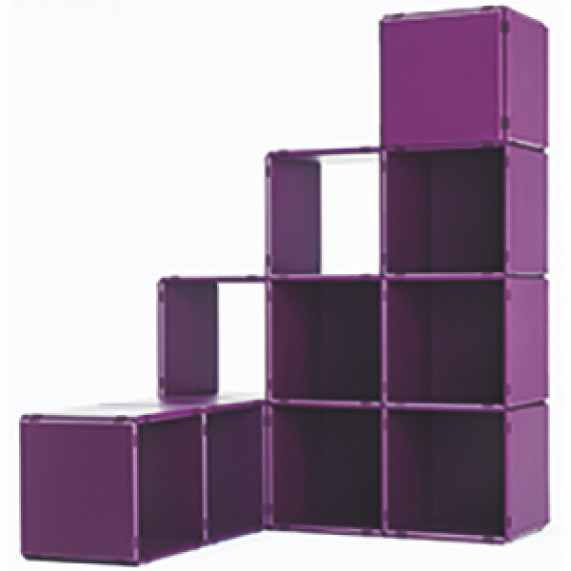 stair shelf in deep purple