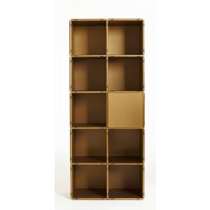 shelving system copper gold