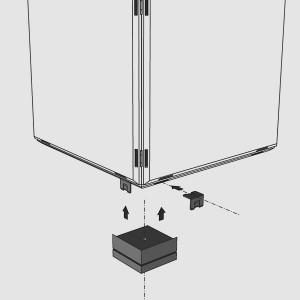 Regalsockel von qubing lassen sich mit Hilfe von Verbindungsklippse an der Bodenplatte Ihres Regalsystem anbringen.