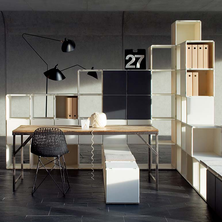 Großartig Qubing White Office Shelf With Doors