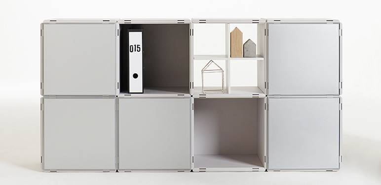 Qubing Bookshelf With Doors